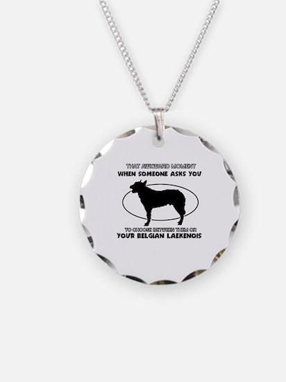 Belgian Laekenois Dog Awesom Necklace Circle Charm