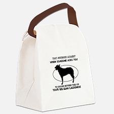 Belgian Laekenois Dog Awesome Des Canvas Lunch Bag