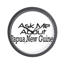 ask me about Papua New Guinea Wall Clock