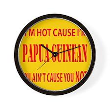 Hot Papua New Guinean Wall Clock