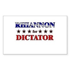 RHIANNON for dictator Rectangle Decal