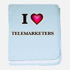 I love Telemarketers baby blanket