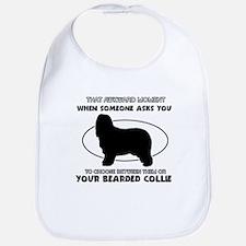 Bearded Collie Dog Awesome Designs Bib