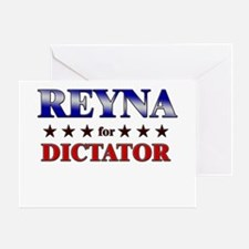 REYNA for dictator Greeting Card