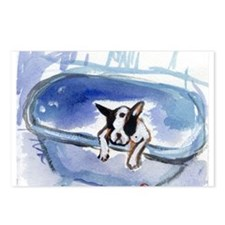 BOSTON in bathtub Design Postcards (Package of 8)