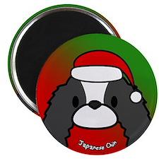 Cartoon Japanese Chin Christmas Magnet