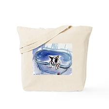 BOSTON in bathtub Design Tote Bag