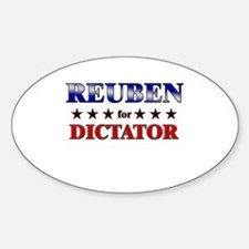 REUBEN for dictator Oval Decal