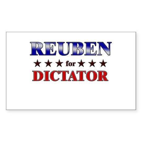 REUBEN for dictator Rectangle Sticker