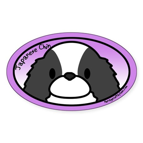 Anime Japanese Chin Oval Sticker