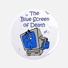 """The Blue Screen of Death 3.5"""" Button"""
