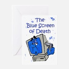 The Blue Screen of Death Greeting Card