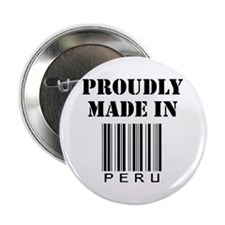 "Proudly made in Peru 2.25"" Button"