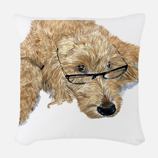 Goldendoodle Stella Woven Throw Pillow