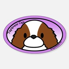 Anime Sable Japanese Chin Oval Decal