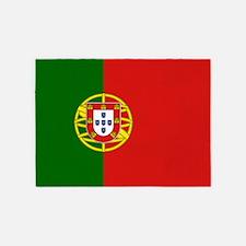 Flag Of Portugal 5'x7'area Rug