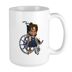 Katrina Broken Left Leg Large Mug