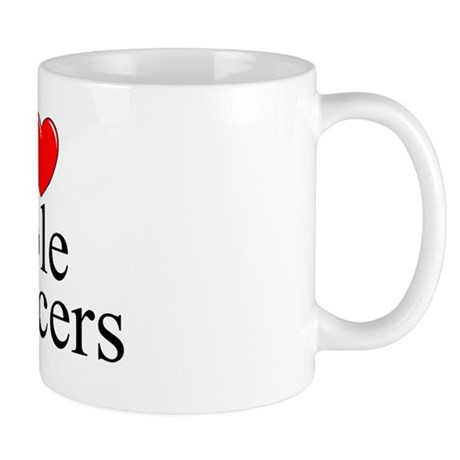 """""""I Love (Heart) Pole Dancers"""" Mug"""