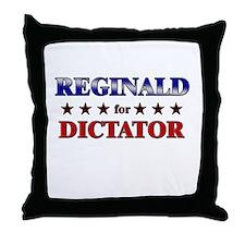 REGINALD for dictator Throw Pillow