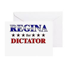 REGINA for dictator Greeting Card