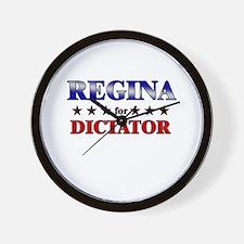 REGINA for dictator Wall Clock