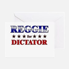 REGGIE for dictator Greeting Card