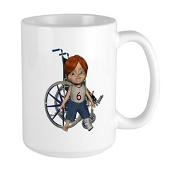 Kevin Broken Left Leg Large Mug