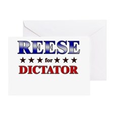 REESE for dictator Greeting Card