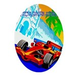 International Grand Prix Auto Racing Print Oval Or