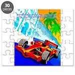International Grand Prix Auto Racing Print Puzzle