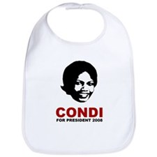Condi Rice For President Bib