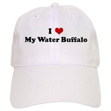 I Love My Water Buffalo Baseball Cap