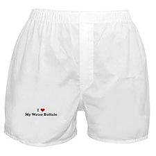 I Love My Water Buffalo Boxer Shorts