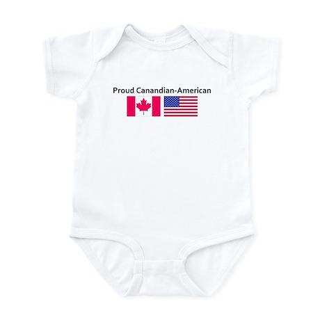Proud Canadian American Infant Bodysuit