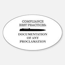 Compliance Documentation Oval Decal