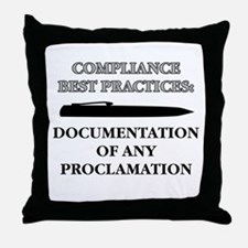 Compliance Documentation Throw Pillow