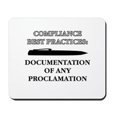 Compliance Documentation Mousepad