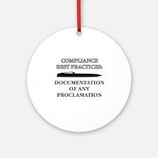 Compliance Documentation Ornament (Round)