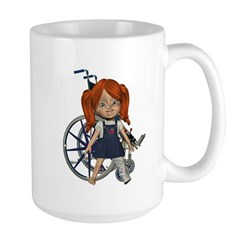 Kit Broken Left Leg Large Mug