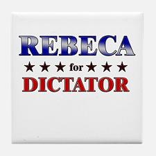 REBECA for dictator Tile Coaster