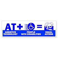 AT = Access! Bumper Bumper Sticker