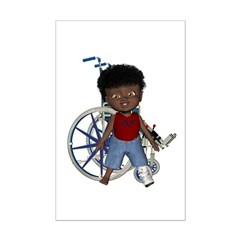 Keith Broken Left Leg Mini Poster Autograph Print
