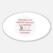 Funny Math Sticker (Oval)