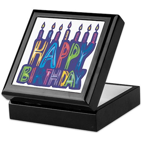 Happy Birthday Candles Keepsake Box