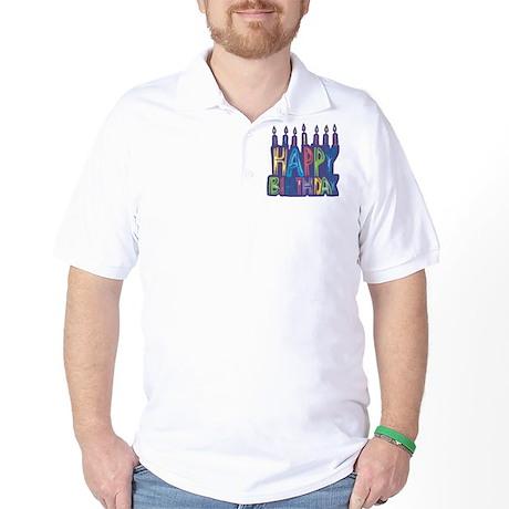 Happy Birthday Candles Golf Shirt