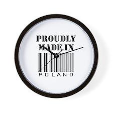 Cute Polish proud Wall Clock