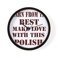 Learn best frim this Polish Wall Clock