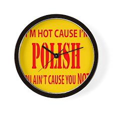 Hot Polish Wall Clock