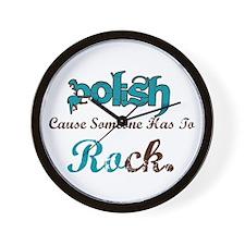 Polish Rock Wall Clock