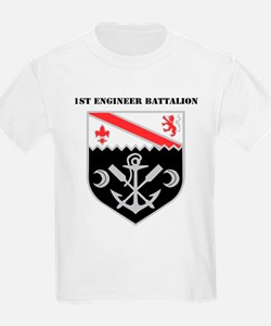 DUI - 1st Engineer Battalion with Tex T-Shirt